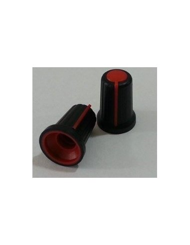 Knob 15.7mm Black with Red Line | Botões |