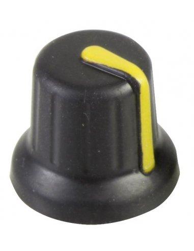 Knob 15.7mm Black with Amarelo Line | Botões |