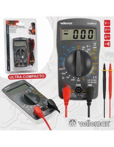 Velleman Digital Multimeter 3½ 10A DVM832 | Multimetros |