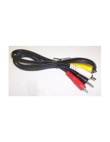 3.5mm 4-Pole Plug to 3 RCA Plugs | Cabo coaxial | Cabo av |