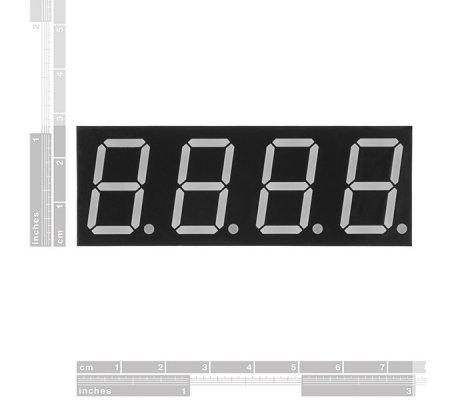 7-Segment Display - 20mm (Verde) | Display 7 segmentos |