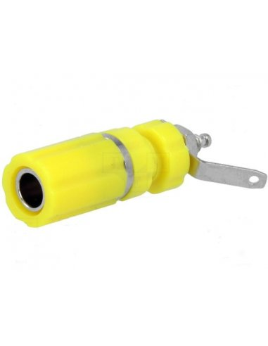 Banana Socket 4mm Amarelo | Teste e Medida |