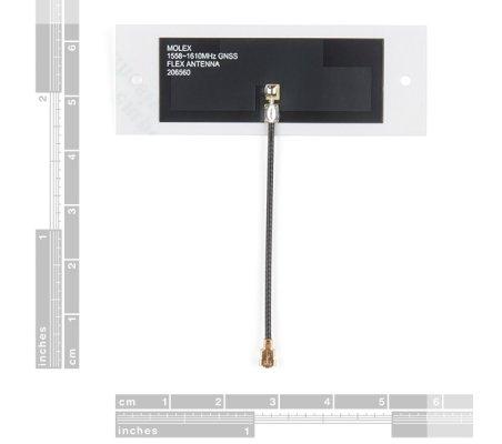 Molex Flexible GNSS Antenna - U.FL (Adhesive) | Antenas |