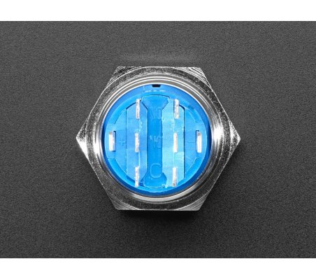 Rugged Metal On/Off Switch - 19mm 6V RGB On/Off | Push Button |