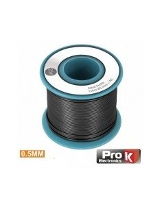 Wire Spool Black Single wire 0.5mm - 25m