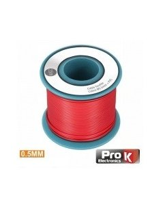 Wire Spool Red Single wire 0.5mm - 25m