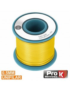 Wire Spool Yellow Single wire 0.5mm - 25m