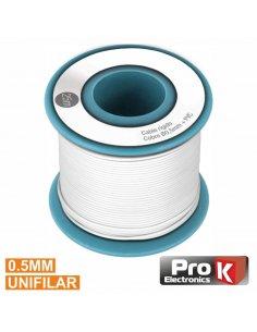 Wire Spool White Single wire 0.5mm - 25m