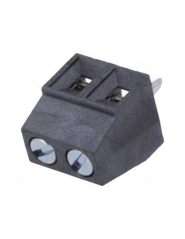 Terminal Block 2P Black 3.81mm