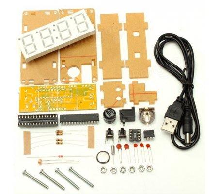 Kit DIY 4 Relógio Digital com Caixa em Acrílico | Varios |