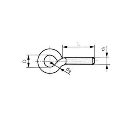 Screw Eye M5 15x8mm   CANSAT  