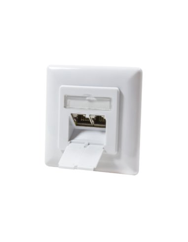 Wall Outlet UP 2x RJ45 STP Cat6 - Branco