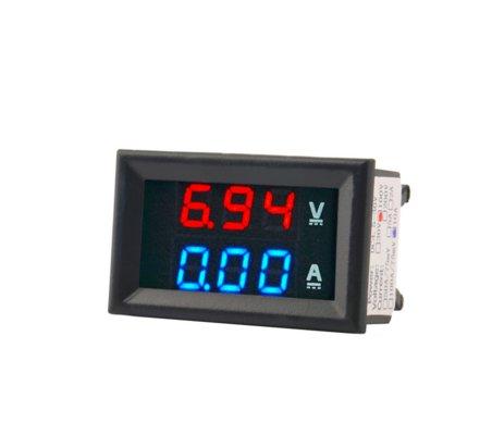 Modulo voltimetro e amperimetro digital 100V 10A Led Azul e Vermelho