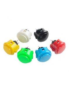Sanwa 30mm Push Button for Arcade Game Joystick Controller - Yellow