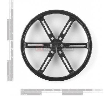 Wheel 90x10mm Pair - Black