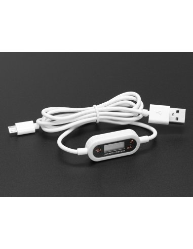 Micro B USB Cable with LCD Voltage / Current Display | LCD Grafico |