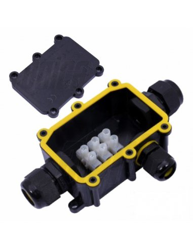 Waterproof Junction Box 3P w/ 3way 0.5-2.5mm² Cables 24A 450V IP68