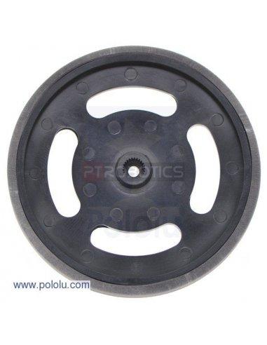 2-5/8 plastic Black wheel Futaba servo hub | Rodas para Robôs |