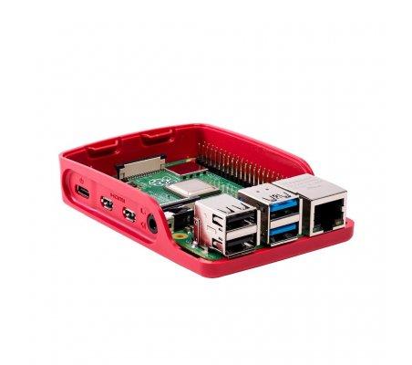 Caixa Oficial para Raspberry Pi 4 Model B Vermelha & Branca