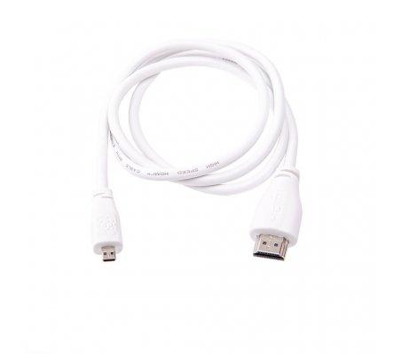 Raspberry Pi Micro HDMI to HDMI Cable 2m - Branco