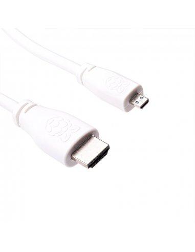 Raspberry Pi Micro HDMI to HDMI Cable 1m - Branco