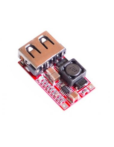 Módulo Conversor DC-DC Step-Down com Carregador USB | Output voltage: 5.1-5.2V