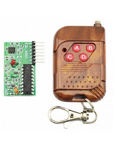 IC 2262/2272 4 Channel 315MHZ 4 Key Wireless Remote Control | 315Mhz e 433Mhz |