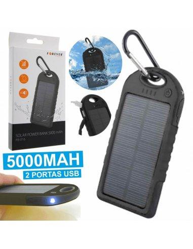 5000mAh Solar Panel Power Bank Mobile   Carregador de Baterias  