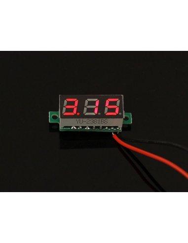 0.28 Inch LED digital DC voltmeter - Vermelho | Medidores de Painel |