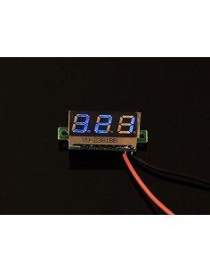 0.28 Inch LED digital DC voltmeter - Blue