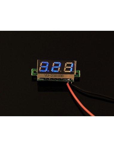 0.28 Inch LED digital DC voltmeter - Blue   Medidores de Painel  