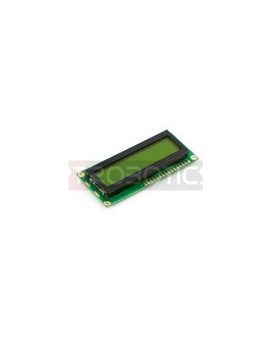 Basic 16x2 Character LCD - Black on Verde 5V | LCD Alfanumerico |