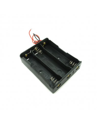 3x18650 Lithium Battery Holder wire leads | Baterias Litium |