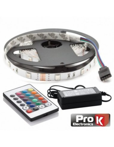 RGB Strip 300 Branco Leds 2835 12V 5m w/ Power Supply and Controller