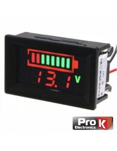 12V Digital Panel Voltmeter LED w/ Battery Capacity Indicator