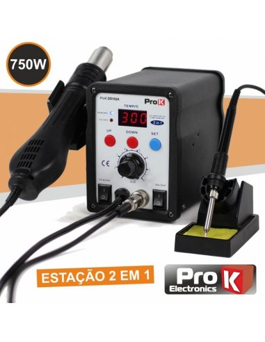 ProK PKDS102A SMD Soldering Station with Heat Gun 750W
