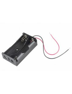 2x18650 Lithium Battery Holder wire leads