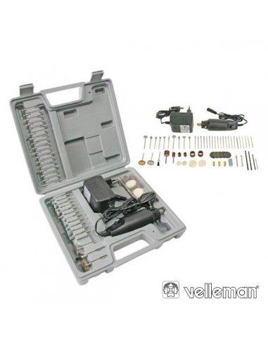 Velleman VTHD02 Electric Precision Drill & Engraving Set - 62pcs | Berbequins |