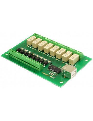 USB-OPTO-RLY88 - 8 optically isolated inputs, 8 relays | Relés |