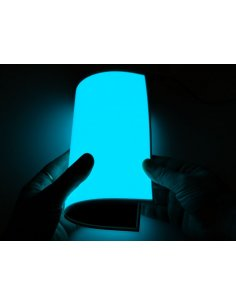Electroluminescent (EL) Panel - 20cm x 15cm Aqua