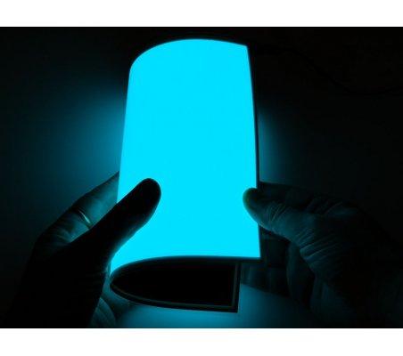 Electroluminescent (EL) Panel - 20cm x 15cm Aqua | El-Wire - Fio Electroiluminescente |
