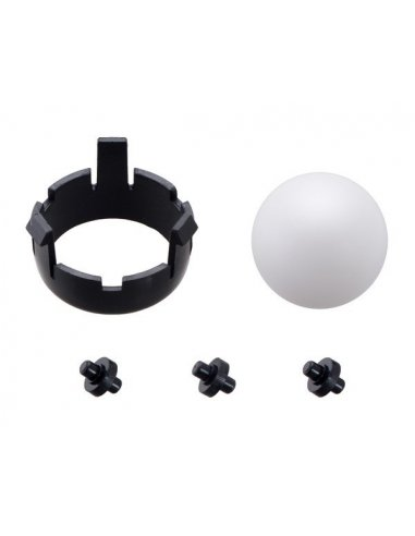 Romi Chassis Ball Caster Kit - Black   Casters  