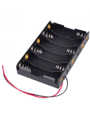 Battery Holder 6xAA Wire Leads | Suporte Pilhas |
