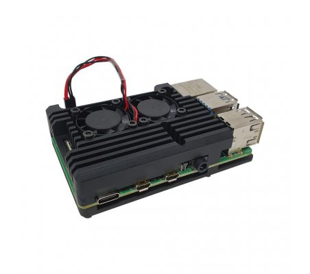 Dual Fan Heatsink Case for Raspberry Pi 4 | Caixas Raspberry pi |