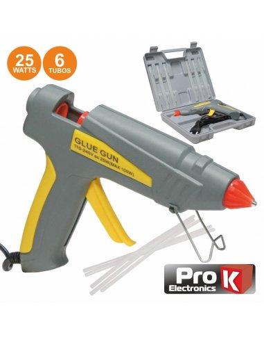 ProK PKGG25WM Hot Glue Gun 25W w/ case
