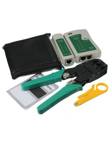 Network Cable Tester Rj45 Rj11 w/ Wire Cable Crimper and Stripper | Acessórios |