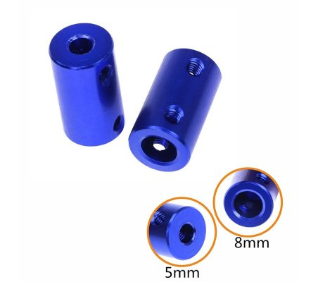 3D printer Stepper Motor 5x8x25mm Coupler - Blue