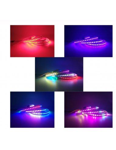 WS2812B 30 RGB Led Strip 5050 5V Black - 1mt