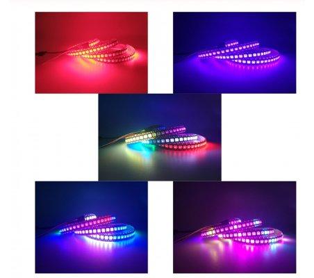WS2812B 30 RGB Led Strip 5050 5V Black - 1mt | Neopixel |
