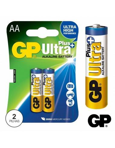 GP Alkaline Battery - 2x LR6-AA 1.5V